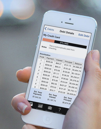 Pay Off Debt - great app amortizes to show how your debt balance should reduce over time