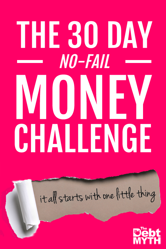 Eye-opening 30-day challenge to get a handle on what you want from your money and start getting out of debt.